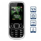 D900 1.8 inch Quad Band Cell Phone Dual SIM with Camera Torch Bluetooth(color  black