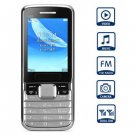 US5 2.4 inch Quad Band Cell Phone Screen Dual SIM Bluetooth Camera Bright Torch( silver