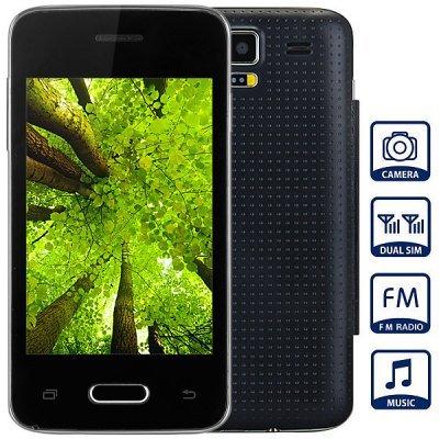 Unlocked Phone with 3.5 inch WVGA Screen FM MP3 Bluetooth Browse Alarm Calendar ( black