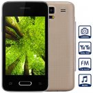 Unlocked Phone with 3.5 inch WVGA Screen FM MP3 Bluetooth Browse Alarm Calendar (color  golden