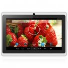 Android 4.4  Tablet PC with 7 inch WVGA Screen  Dual Core 1.3GHz Dual Cameras WiFi 4GB ROM ( white
