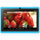 Android 4.4  Tablet PC with 7 inch WVGA Screen  Dual Core 1.3GHz Dual Cameras WiFi 4GB ROM ( blue