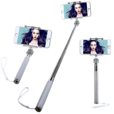 M-335 Fashionable Selfie Stretch Stick Monopod with Rotating Clip Stand for iPhone 6 / 6