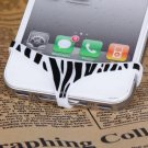 Sexy Silicone Protect Privacy Invention Leopard Print Pattern Design for iPhone 5 / 4 / 4S (white