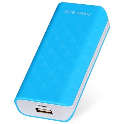 Compact Size 5600mAh Portable Mobile Power Bank for iPhone 4 4S 5 5S 5C Samsung S4 i9500 (blue