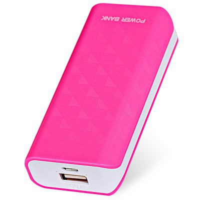 Compact Size 5600mAh Portable Mobile Power Bank for iPhone 4 4S 5 5S 5C Samsung S4 i9500 (pink