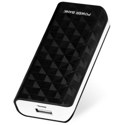 Compact Size 5600mAh Portable Mobile Power Bank for iPhone 4 4S 5 5S 5C Samsung S4 i9500 (black