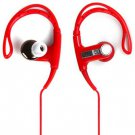 PortableDB In-ear Stereo Ear Hook Earphone Sports Headset 3.5mm Plug with Carrying Bag (color red