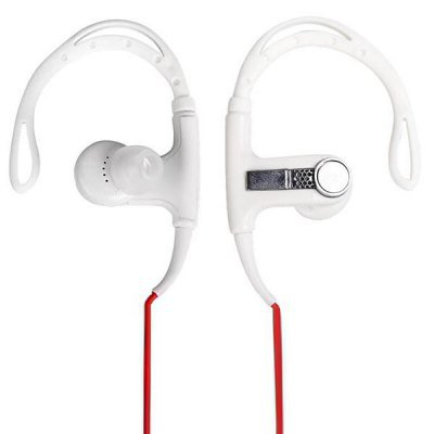 PortableDB In-ear Stereo Ear Hook Earphone Sports Headset 3.5mm Plug with Carrying Bag (color white