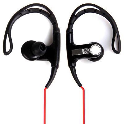 PortableDB In-ear Stereo Ear Hook Earphone Sports Headset 3.5mm Plug with Carrying Bag (color black