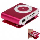 Pocket MP3 Player 3.5mm Audio Jack with Back Clip and Micro SD Card Slot ( color pink