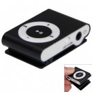 Pocket MP3 Player 3.5mm Audio Jack with Back Clip and Micro SD Card Slot ( color black