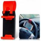 WF-400 Universal Adjustable Mobile Phone Holder Smart Clip Steering Wheel Car Holder