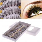 10 Pairs Makeup Handmade Fake False Eyelash Natural Look Transparent Stem 27# 54554