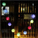 Colorful 10Pcs Multicolor Solar Chinese Lantern Wedding Party Outdoor Light Garden Lamp # 21341