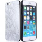 Luxury 3D Water Cube Pattern Hard Slim Back Cover Case for iPhone 6 5.5 inch  SILVER
