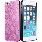 Luxury 3D Water Cube Pattern Hard Slim Back Cover Case for iPhone 6 5.5 inch PINK