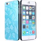 Luxury 3D Water Cube Pattern Hard Slim Back Cover Case for iPhone 6 5.5 inch AZURE