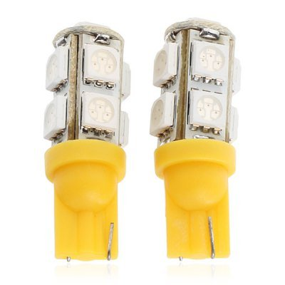 Yellow Light 9 x SMD 5050 LEDs T10 Car Light - 1 Pair