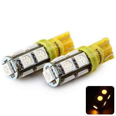Sencart T10 5050 9 LEDs 2W 560-590nm Wavelength Yellow Light Car Turn Signal Lamp DC 12V (2 pcs)