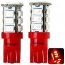 2pcs Sencart T020 T10 4W Red Light 15 SMD 5730 LEDs Car Reading Light / Width Lamp (12 - 16V)