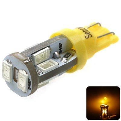 Sencart T10 5730 10 LEDs 4W 560-590nm Wavelength Yellow Light Car Turn Signal Lamp DC 12 - 16V