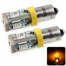 Sencart BAX9S 5730 10 LEDs 4W 560-590nm Yellow Light Car Tail Lamp DC 12 - 16V (2 pcs)