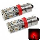 Sencart BA9S 5730 10 LEDs 4W 635-700nm Red Light Car License Plate Light DC 12 - 16V (2 pcs)