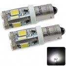 Sencart BA9S 5730 10 LEDs 4W White Light  Width Lamp 160 - 220LM DC 12 - 16V (2 pcs)