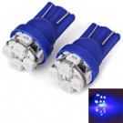 2pcs/Pack Plastic Housing 12V T10 Circuit Board SMD 1210 LED blue Light Bulbs for Car