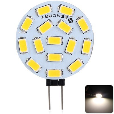 Sencart G4 4.5W 260LM Warm White Light 15 SMD 5730 LEDs Car Reading   Light (1pc, DC 9 - 36V)