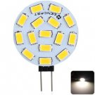 Sencart G4 4.5W 260LM Warm White Light 15 SMD 5730 LEDs Car Reading   Light (1pc, DC 9 - 36V)