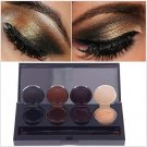 4 Color Eyeliner Gel Eyeshadow Cream Palette Smoky Eyes Makeup Set With Brush # 55401