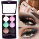 6 Color Hot New Women Makeup Cosmetics Eye Shadow Care Eyeshadow Palette Set with Brush#63567