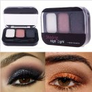 3 Color  Makeup Cosmetics Eye Shadow Care Eyeshadow Palette Set with Brush in#63571 (set 2