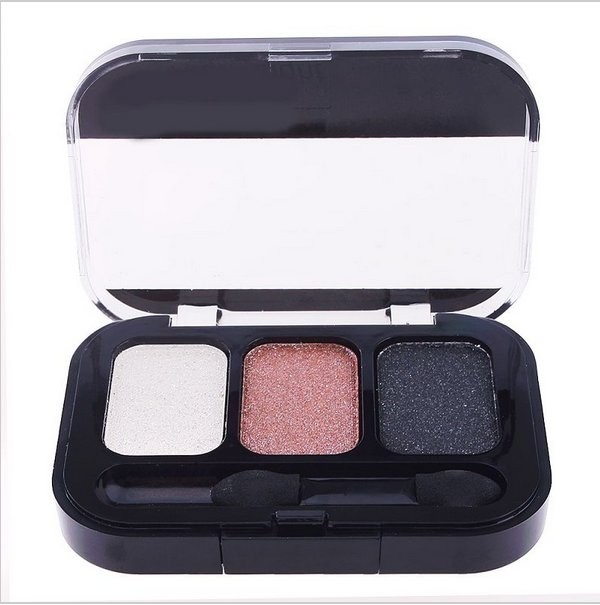 3 Color  Makeup Cosmetics Eye Shadow Care Eyeshadow Palette Set with Brush in#63571 (set 3