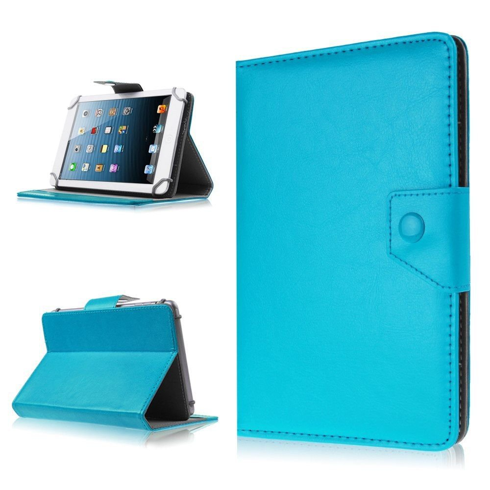 Universal Folio Leather Case Stand Cover for Verizon Ellipsis 7 Inch RCA Tablet (BLUE
