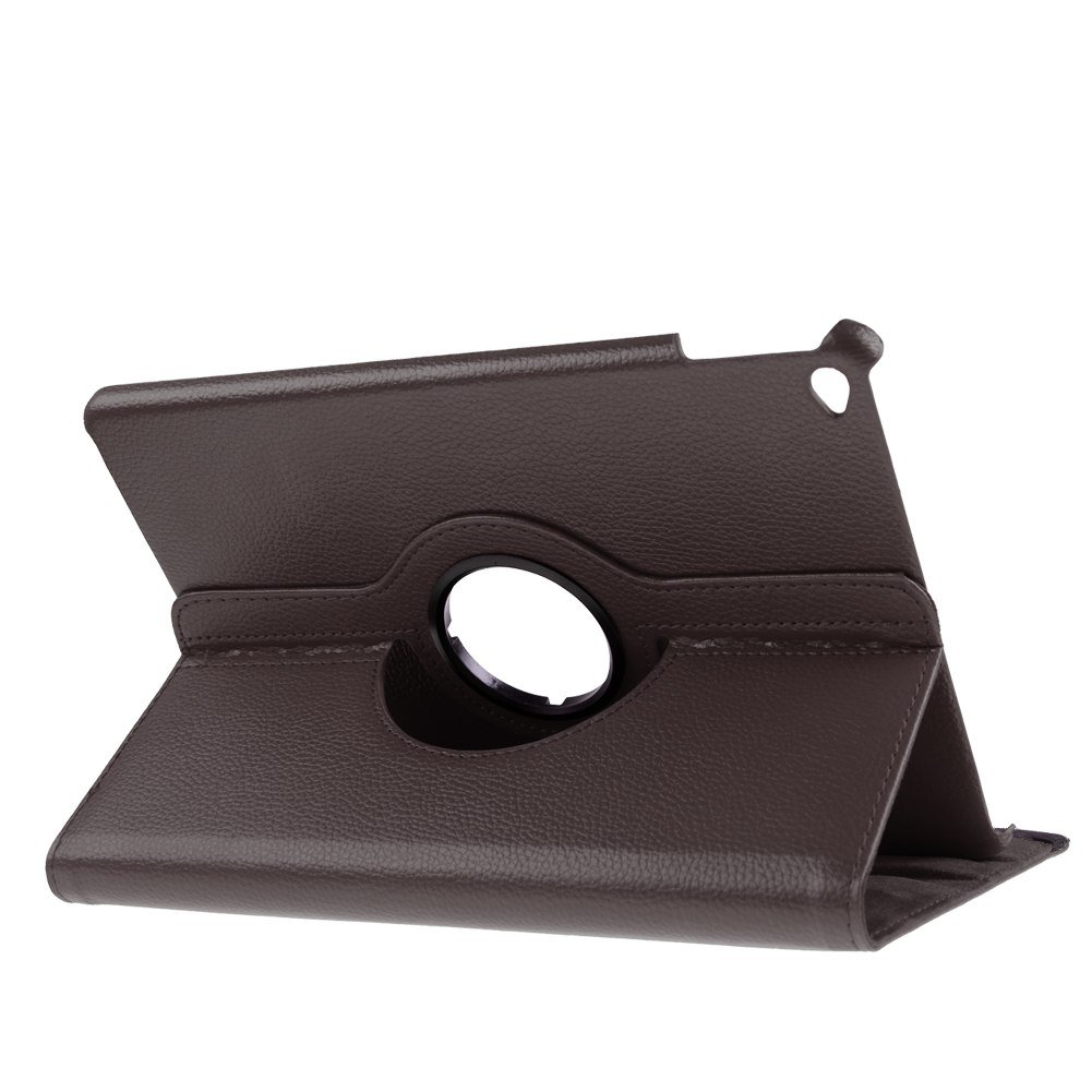 For Apple iPad Air 2 6th Smart Cover 360 Rotating Folio Flip Stand Case Cover ( COLOR BROWN