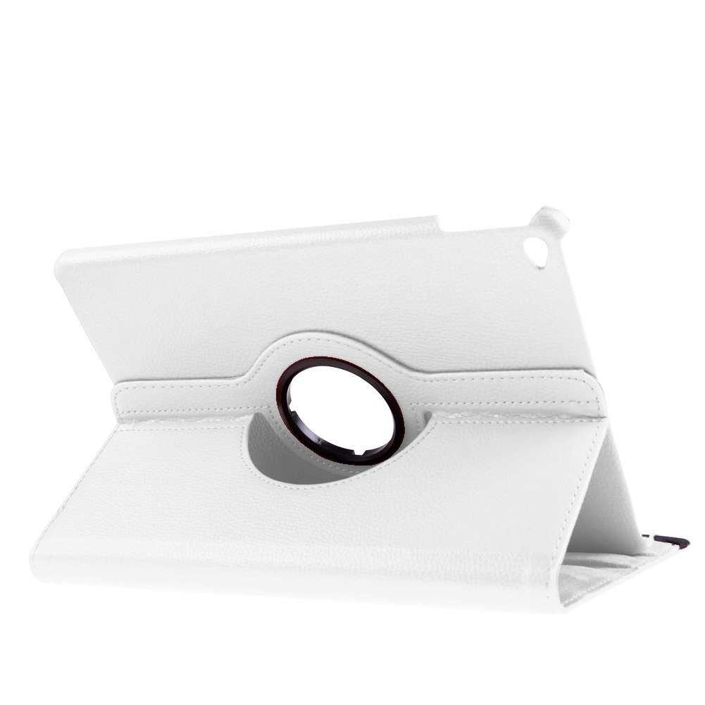 For Apple iPad Air 2 6th Smart Cover 360 Rotating Folio Flip Stand Case Cover ( COLOR WHITE