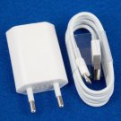EU Euro European Wall Charger + 8 Pin to USB Data Cable for iPhone 5 5C 5S