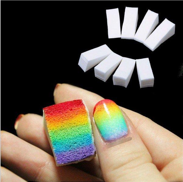 24pcs Gradient Nails Soft Sponges for Color Fade Manicure  Nail Art Tools Accessories #61295