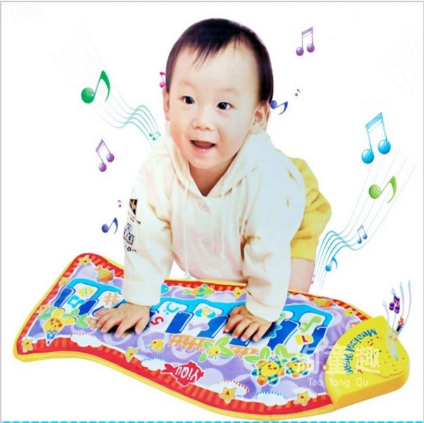 Piano Music Fish Animal Mat Touch Kick Play Fun Learning & Education Toy Gift New #25295