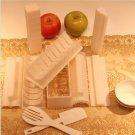 10Pcs Practical Home Kitchen Dinner Healthy Sushi Maker Kit Rice Mold Making Set #52375
