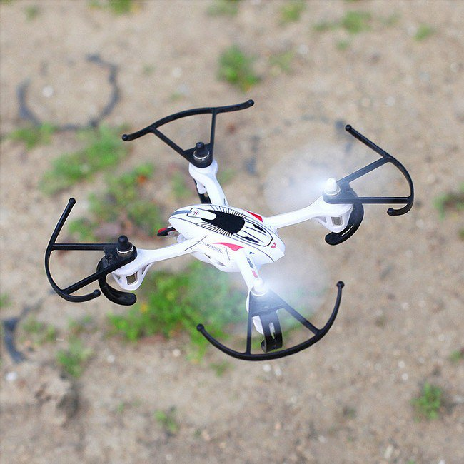 Predator 2.4Ghz 4CH Radio Control RC 6 Axis Gyro Mini Quadcopter UFO Drone (White)