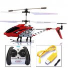 Syma S107G 3.5 Channel Remote Control Alloy RC Helicopter Gyro LED Light Toy Red