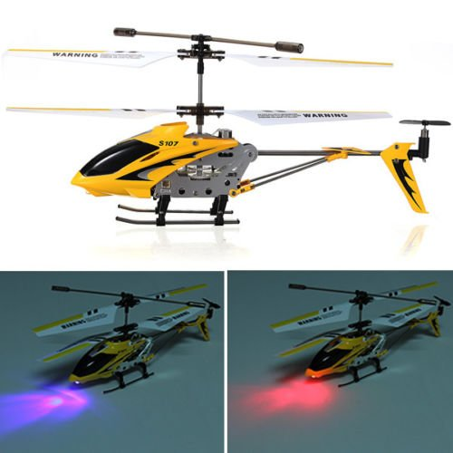 Syma S107G 3.5 Channel Remote Control RC Helicopter Gyro LED Light Indoor Toy