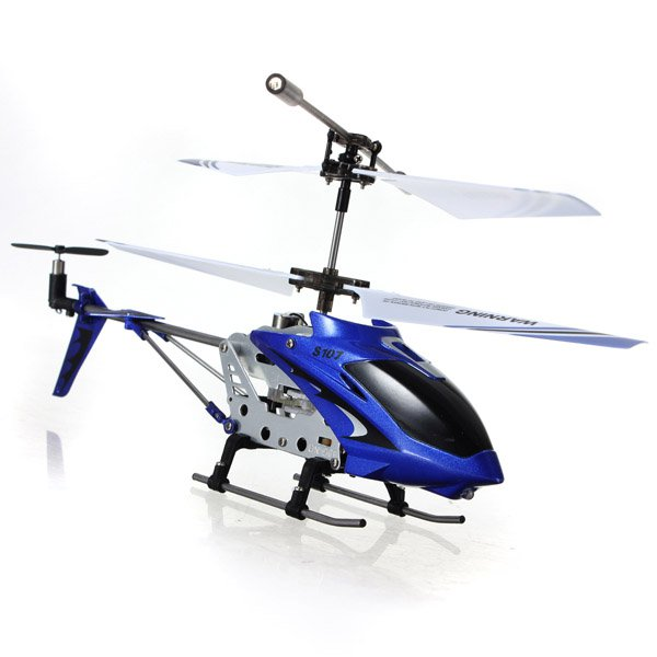 Syma S107G 3.5 Channel Remote Control Alloy Frame RC Helicopter LED Light w/Gyroblue #88