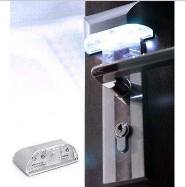 4 LED Light Lamp PIR Auto Keyhole Led Sensor Motion Detector Wireless