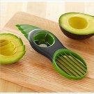 3-in-1 Avocado Slicer Splits Plastic Slices Sharp Durable Blade Fruit Pitter #62819