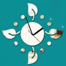 Four leaves flowers Sticker DIY Mirror Wall Clock Wall Sticker Home